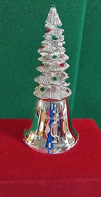 Collectible MADISON AVENUE Silverplated CHRISTMAS Tree Bell Decoration. NEW