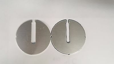 "TWO 2-1/2"" Dia. ROCKWELL/DELTA Milwaukee BAND SAW Aluminum Table Inserts"