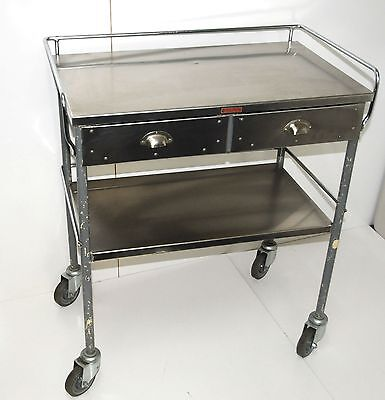 Hospital Stainless Steel Trolley Denyer Circa 1950