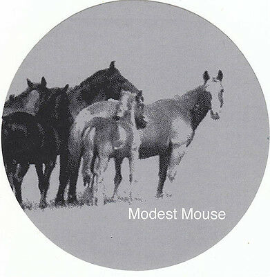 Modest Mouse Good News For People Who Love Bad News RARE promo sticker (gray)