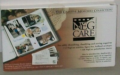 Creative Memories Neg Care 12 Envelopes and 108 Sleeves to Hold Negatives NEW