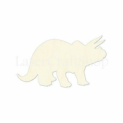 x10 WOODEN WOOLLY MAMMOTH Shapes 12cm dinosaur wood cutouts crafts shape