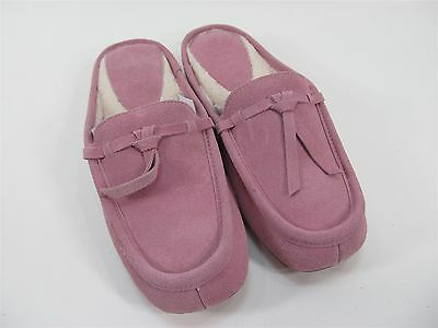 Patricia Green Greenwich Suede Pink Slipper Shoes Size 7