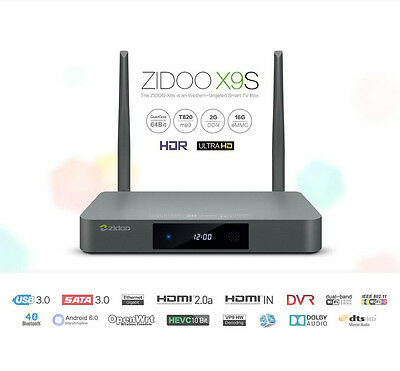 Android 6.0 TV Box ZIDOO X9S 2G/16G WIFI SATA 3.0 HDMI IN Recoder Media Player