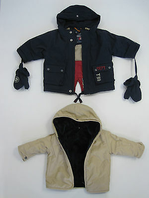 Timberland Baby Boys Fully Lined Hooded Jacket Parka size 6 months Colour Navy