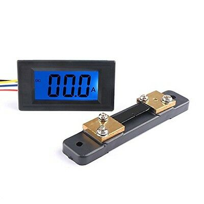 DROK Digital DC 12V Ammeter Panel Amp Meter Gauge DC 0-+/-50A Current Tester