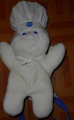 1998 Pillsbury Doughboy Childs Back Pal Book Bag Back Pack Pretend Play Vintage