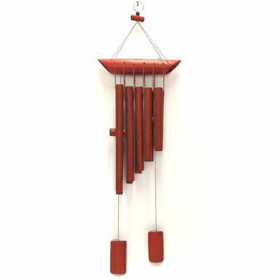 Wind Chime Bamboo Red Wood *67cm Drop* Garden Windchime Feng Shui