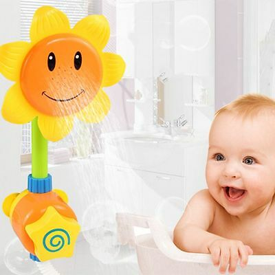 Sunflower Spout Water Faucet Shower Head Infant Baby Kids Bath Play Bathing Toys