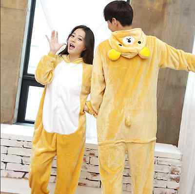 hot  Kigurumi Pajamas Animal Cosplay Costume Unisex Onesie Sleepwear Rilakkuma
