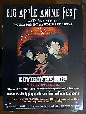 Cowboy Bebop Movie Promotional Anime Poster 2002