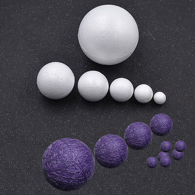 Various Sizes Polystyrene Foam Ball DIY Snowman Party Home Decoration Craft