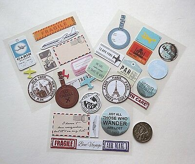 Scrapbooking No 102 - 30 Small Travel Sayings Stickers