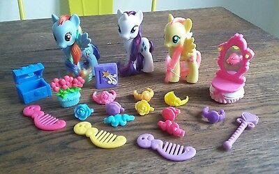 My Little pony G4 Midnight in Canterlot Bundle Rarity Fluttershy Accessories NEW