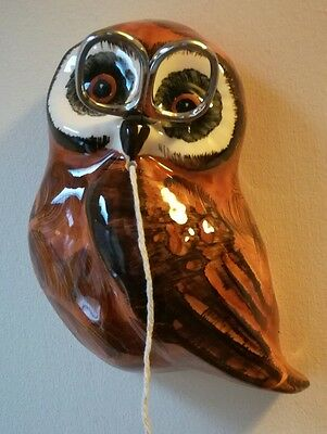 Vintage Ceramic Owl String and Scissor holder