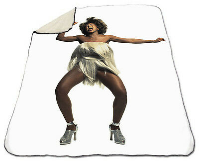 Tina Turner Winter Blanket NEW Fleece Proud Mary I Dont Wanna Lose You Christmas