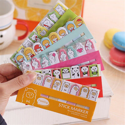 Lovely Animals Sticker Bookmark Marker Memo Flags Index Tab Sticky Notes