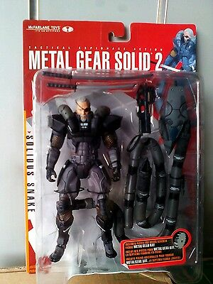 McFarlane action figure metal gear solid 2 solidus snake new nuova