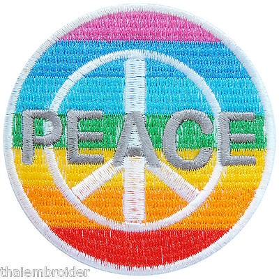 Peace Love Rock n Roll Rockabilly Music Freedom Hippie Boho Iron-On Patches R114