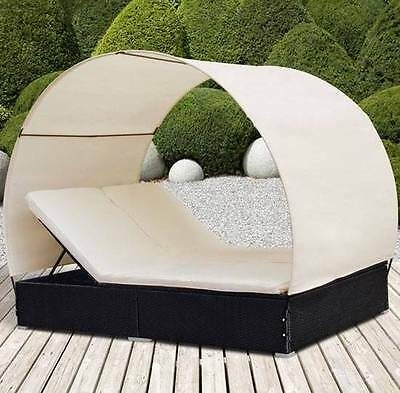 Double Sun Lounger and Roof Garden Bed Luxury Terrace Holiday Balcony Home Sauna