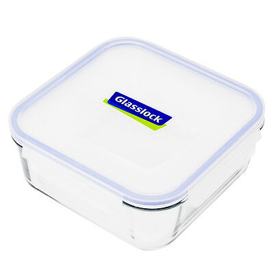 NEW Glasslock Tempered Glass Square Food Container 2.6L