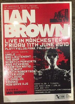 Ian Brown / Unkle Etc.. Rare Manchester gig poster, June 2010