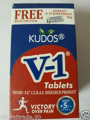 Kudos V1 60 Tablets with Free V1 Jointment Tube For Perfect joint pain relief