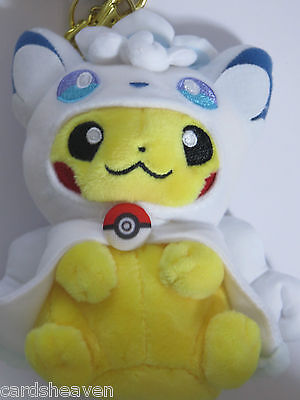 Peluche Pokemon Officielle Pikachu Poncho Goupix d'Alola Pokemon Center Neuve