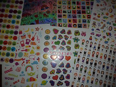 375 Mixed Stickers For Scrapbooking - Cartoon People Hearts Random Sheets Craft