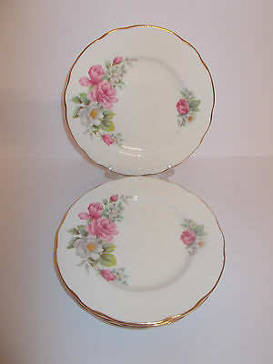 5 x Duchess Bone China Side Cake Tea Sandwich Plates with Floral Design Lovely