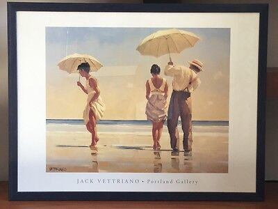 Mad Dogs by Jack Vettriano Very Large Deluxe Blue Framed Art Print Romantic