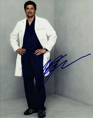 PATRICK DEMPSEY ~ GREY'S ANATOMY ~ SIGNED 10x8 PHOTO COA