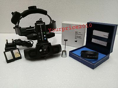 Rechargeable Indirect Ophthalmoscope With Accessories & 20 D Ophthalmoscope Lens