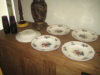 Lot De 6 Assiettes Creuses Sarreguemines D.v. Agreste Bon Etat