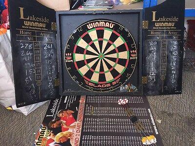 WINMAU BLADE 3 DART BOARD CHAMPIONSHIP EDITION IN CABINET Collection Only Wigan
