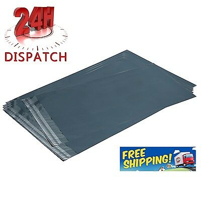 "1000 Grey Mailing Bags 10""x 14"" 225 X 355Mm Postage Poly Postal Self Seal Strong"