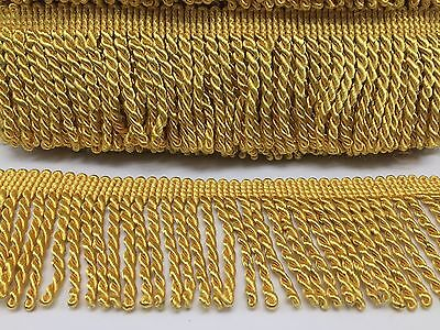 7.5Cm Wide Gold Bullion Fringing X 1Metre,  Best Qualty And Price