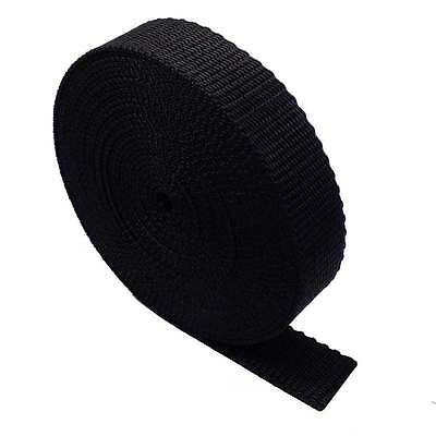 Black Polypropylene Webbing / Strapping - Good Quality - 15mm to 50mm
