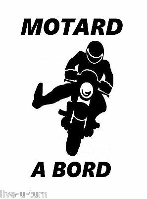 Sticker Autocollant MOTARD A BORD 3 - Vinyl brillant couleur au choi