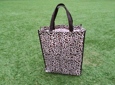 Lady Leopard Gift Bag Shopping Bag Handbag Tote Bag Plastic Strong Made
