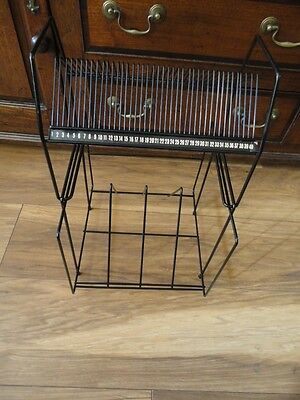 Vintage Retro Atomic Wire Record Holder Singles And LP's