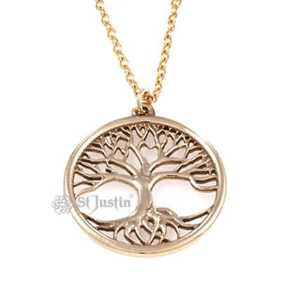 Tree of Life in solid bronze pendant - St. Justin BZP106