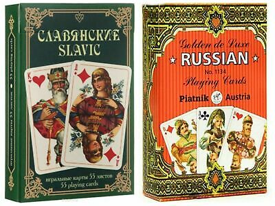 Russian Series Golden Russia 55 New Playing Cards. Austria.Карты