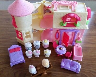 Hello Kitty House Play Bundle - Kids Toy lots of Accessories, Official, See Saw