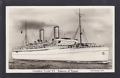 Circa 1930 Real Photo RPPC Postcard Canadian Pacific SS Empress of France