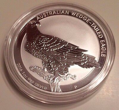 2016 Australia Wedge Tailed Eagle BU Pure 1 oz .999 Silver Coin. Limited Mintage