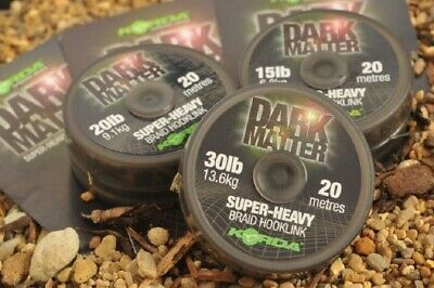 Korda Dark Matter Braid Hooklink Tungsten Tubing Putty Anti Tangle Sleeves Carp