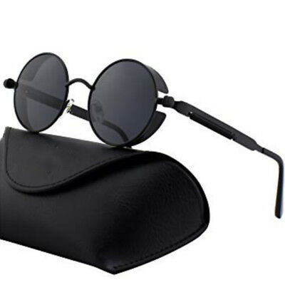 f60a380feb Retro Polarized Steampunk Sunglasses Men s Round Mirrored Sun Glasses  Eyewear