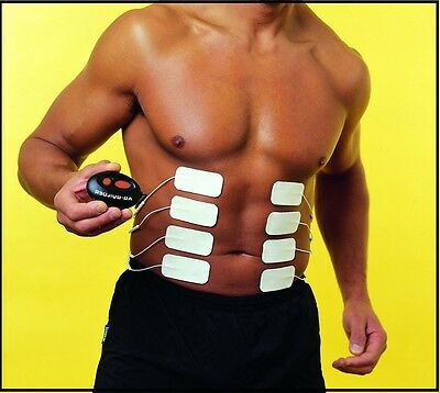 Abs Machine Builder Six Pack Patches Fitness Body Belt Toning Muscle Massage
