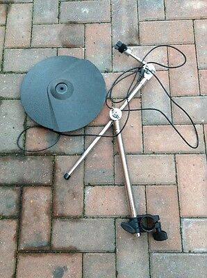 Free P&P. Roland CY-8 Cymbal w Boom Arm & Lead. for Electronic Drum Kit.